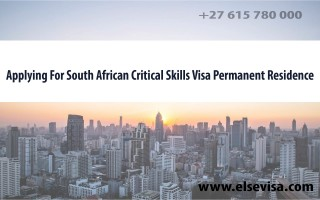 How you can qualify for thepermanent residency critical skills visa South Africapermanent residency through your critical skills visa South Africa