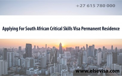 applying for south african critical skills visa permanent residence