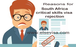 Reasons for South Africa critical skills visa rejection
