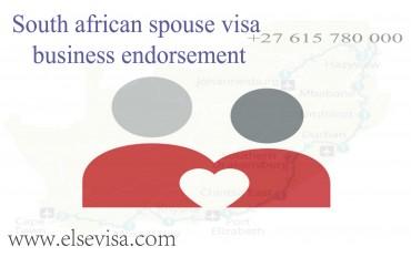South african spouse visa business endorsement
