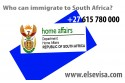 Who can immigrate to South Africa?